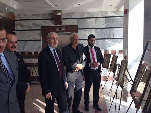 مدير عام البحوث يشارك في افتتاح معرض الخط العربي