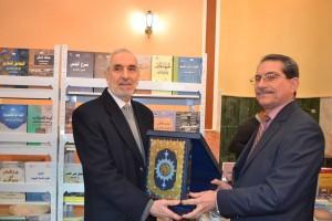 مدير عام دائرة البحوث والدراسات يشارك في افتتاح معرض الكتاب (2)