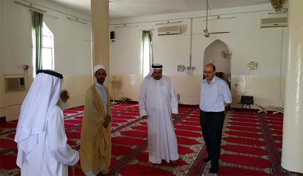 السيد مدير عام دائرة الشؤون الهندسية يزور عدداً من جوامع قضاء أبو غريب