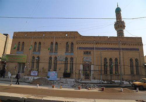 الدائرة-الهندسية-تقوم-بأعمال-صيانة-جامع-العساف-في-بغداد1