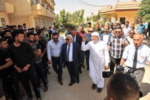 الدكتور الهميم يزور جامعة كركوك ويشيد بدور رئاسة الجامعة في استقبال الطلبة النازحين وإيوائهم (1)