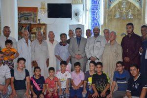 الدكتور عثمان الجحيشي مفتش عام ديوان الوقف السني يزور جامعي (1)