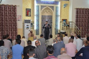 الدكتور عثمان الجحيشي مفتش عام ديوان الوقف السني يزور جامعي (2)
